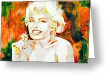 Marilyn Monroe Portrait.9 Greeting Card