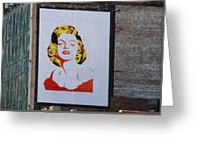 Marilyn Monroe Greeting Card by Rob Hans