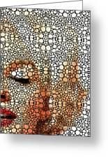 Marilyn Monroe - Stone Rock'd Art Painting Greeting Card