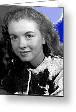 Marilyn Monroe Then Norma Jeane Dougherty Photo By H. Maier Studios Los Angeles Ca C.1943-2014 Greeting Card