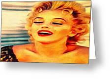 Marilyn Monroe Tribute Silked Curves Greeting Card