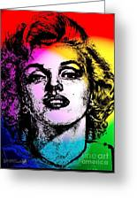 Marilyn Monroe Under Spotlights Greeting Card