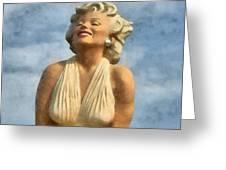 Marilyn Monroe Watercolor Greeting Card