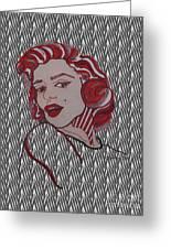Marilyn Monroe Zebra Greeting Card