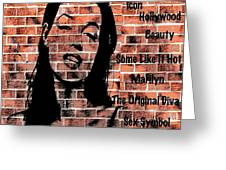 Marilyn On Brick Greeting Card