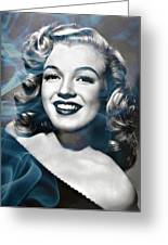 Marilyn On Fire Greeting Card