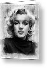 Marilyn Greeting Card by Patrick OHare