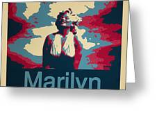 Marilyn Poster Greeting Card