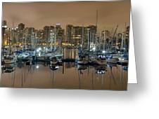 Marina Along Stanley Park In Vancouver Bc Greeting Card