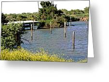 Marina At Miners Slough Greeting Card