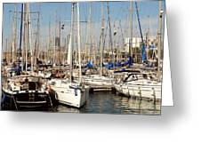 Marina At Port Vell Barcelona Greeting Card