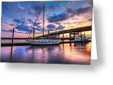 Marina At Sunset Greeting Card