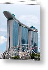 Marina Bay Sands Hotel 01 Greeting Card