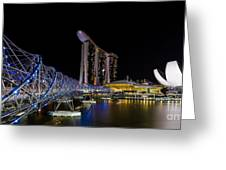 Marina Bay Sands Greeting Card by Pete Reynolds