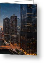 Marina City And A M A Plaza Chicago Greeting Card