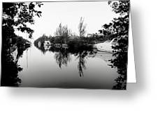 Marina Drive Canal Greeting Card