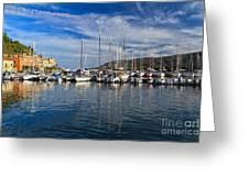 marina in Porto Azzurro Greeting Card