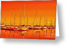 Marina Reflections Greeting Card