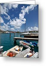 Marina St Thomas Virgin Islands Greeting Card by Amy Cicconi