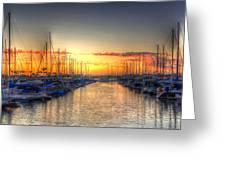 Marina Summer Sunset Greeting Card