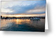 Marina Sunrise 1 Greeting Card by Jim Thompson