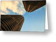 Marina Towers Greeting Card