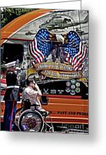 Marine And Wounded Warrior Greeting Card