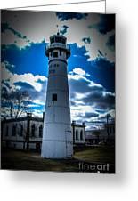 Marine City Michigan Lighthouse Greeting Card