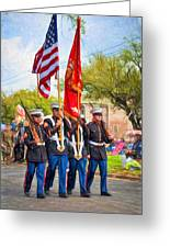 Marine Color Guard - Paint Greeting Card