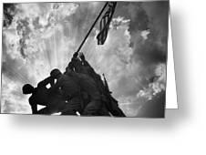 Marine Corps War Memorial Greeting Card
