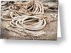 Marine Ropes Beige And Brown Colors Greeting Card by Matthias Hauser