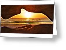Marineland's Sunrise Dolphin Greeting Card