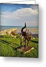Marineres Trail Between Manitowoc And Two Rivers Wi Greeting Card