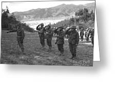 Marines Of The 5th Marine Regiment Greeting Card