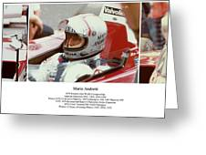 Mario Andretti Greeting Card by Don Struke