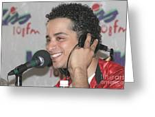 Singer Mario Vazquez Greeting Card