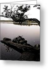 Marion Lake And The Moon Greeting Card