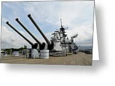 Mark 7 16-inch Gun Barrels On Deck Greeting Card