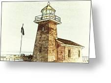 Mark Abbott Lighthouse Santa Cruz California Greeting Card by Paul Topp