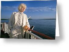 Mark Twain In Mississippi Greeting Card