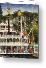 Mark Twain Riverboat Frontierland Disneyland Vertical Photo Art 02 Greeting Card