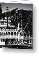 Mark Twain Riverboat Frontierland Disneyland Vertical Sc Greeting Card