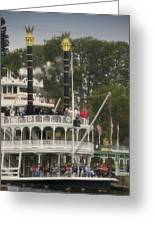 Mark Twain Riverboat Frontierland Disneyland Vertical Greeting Card