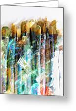 Marker Sketch Of Artist's Brushes Greeting Card