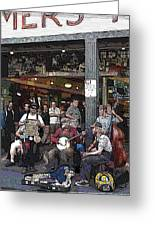 Market Buskers 3 Greeting Card