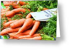 Market Carrots By Diana Sainz Greeting Card