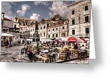 Market Day In The White City Greeting Card