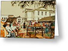 Market Days Greeting Card by Michael Swanson