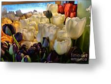 Market Flowers Greeting Card