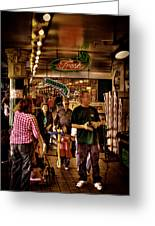 Market Fresh At Pike Place Market Greeting Card